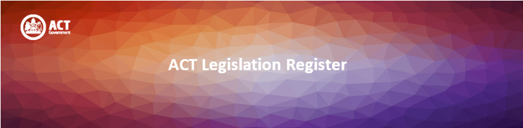 ACT Legislation Register